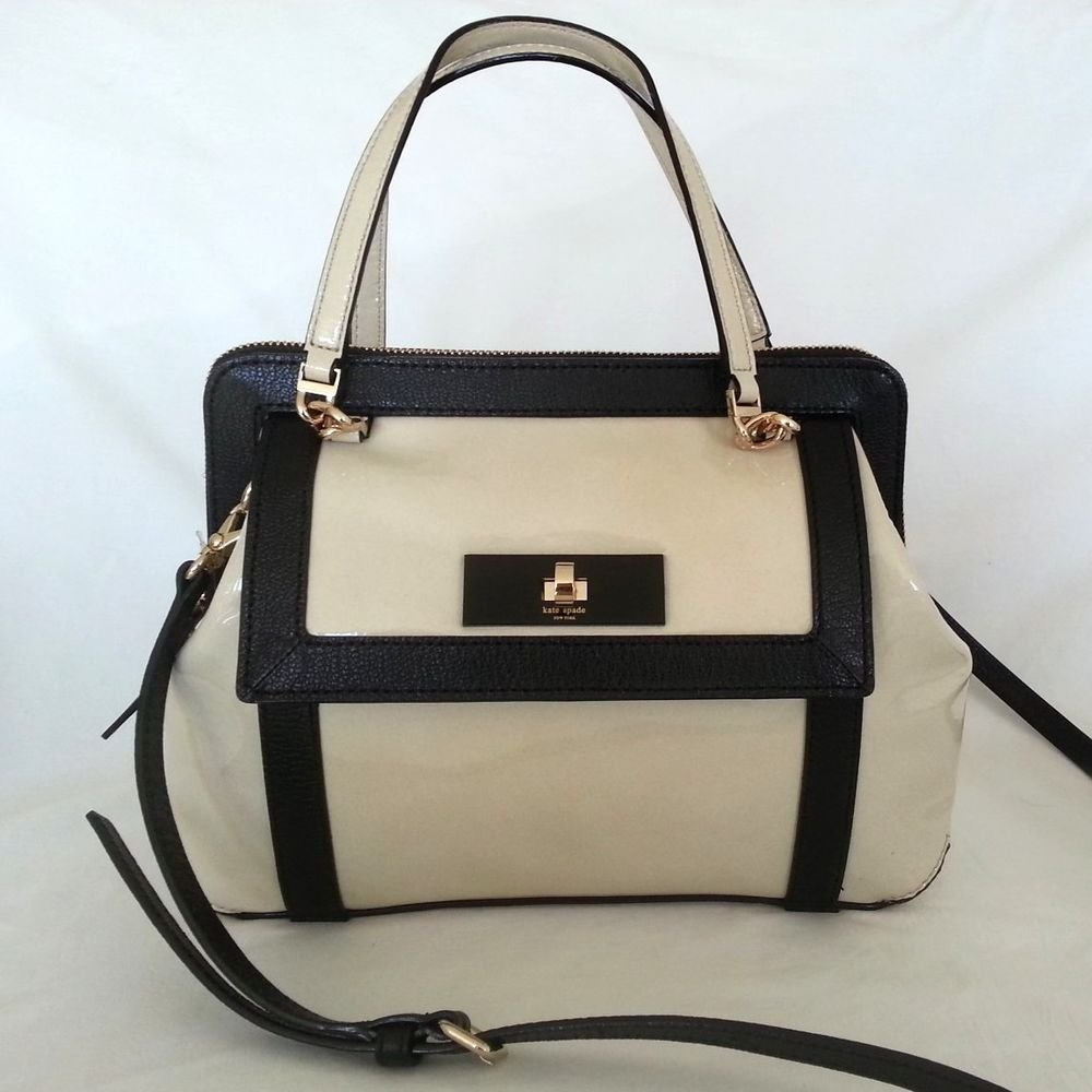 Kate Spade Handbag NEW-Auburn Place Cayton Crossbody Bag Doe/Black-NWT-RP: $328