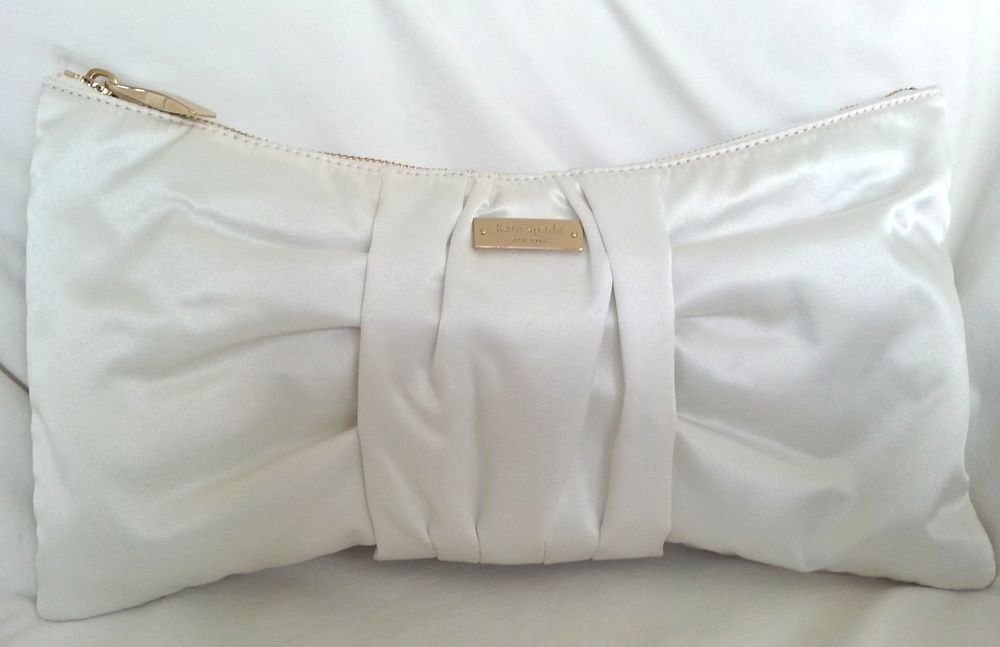 Kate Spade New York Wedding Belle Silka Clutch Bag in Bridal Cream-NWT: SRP:$298