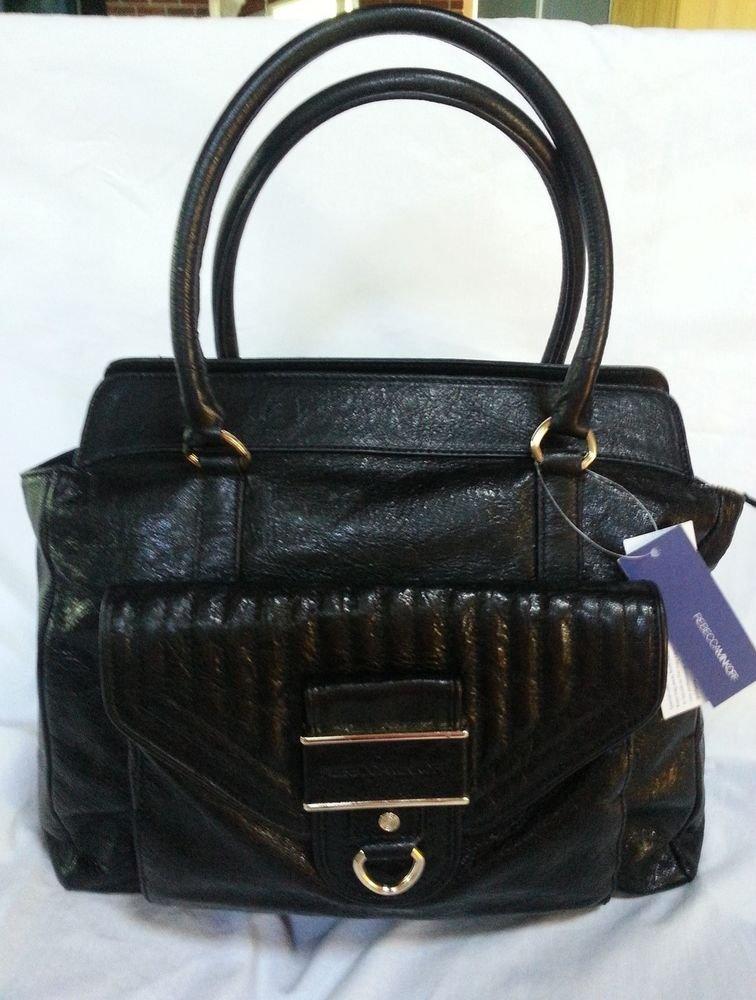 Rebecca Minkoff Handbag-Leather Illy Tote Shoulder Bag in Black-