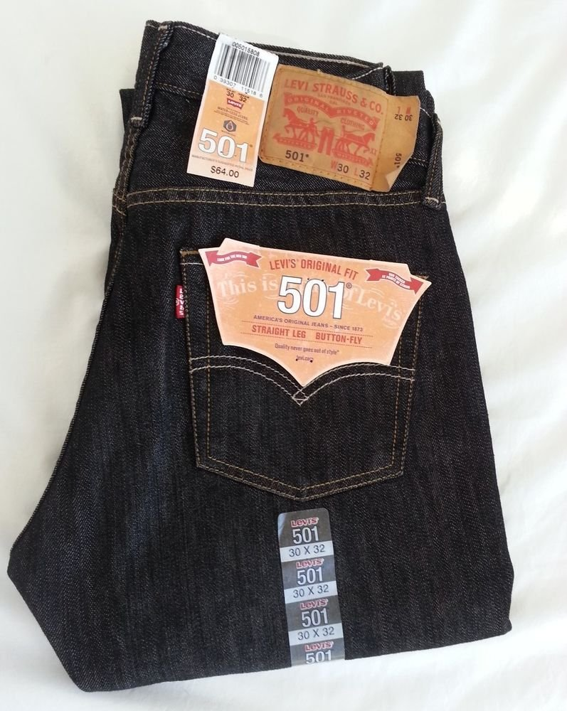 MEN'S LEVI'S 501 Original Fit, Straight Leg Button-Fly Size 30x32