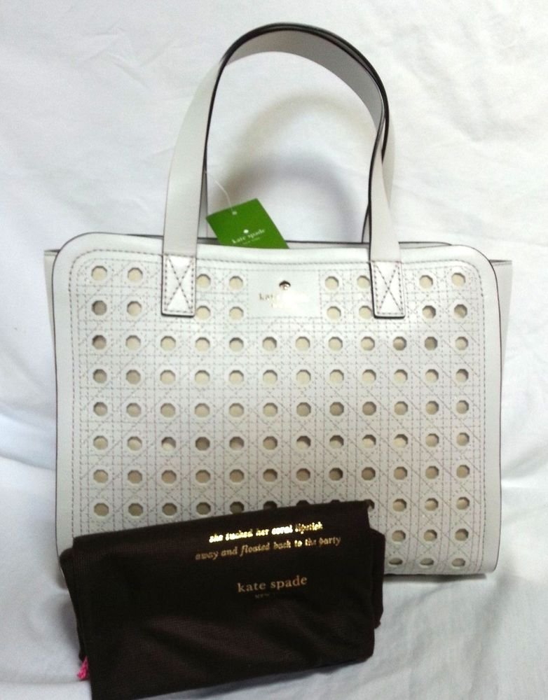 Kate Spade New York Patio Place Kimmie Fresh White Leather Tote Bag