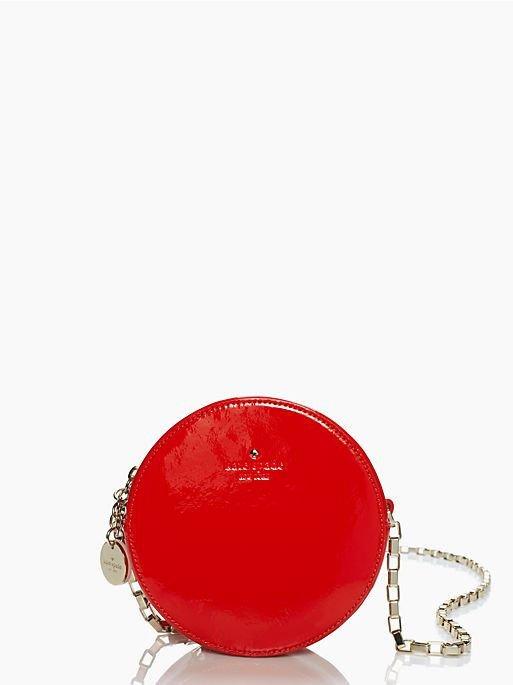 kate spade handbag get out of town dot crossbody bag in red