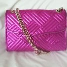 Rebecca Minkoff Affair Chain-Link Shoulder Bag/Clutch in Magenta SRP: $425