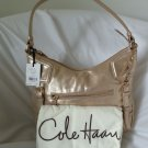 Cole Haan Leather Maya Hobo Shoulder Bag in Soft Gold-Grammercy Unit-SRP:$248