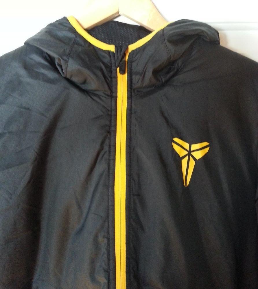 Men's Nike Kobe Bryant Hyperply Hooded Basketball Jacket Black/Gold-NWT-RP $180
