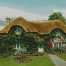 House with Thatched Roof Counted Cross Stitch - Aida 14 Count