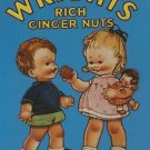 Vintage Wrights Ginger Nuts Ad Counted Cross Stitch - Aida 14 Count