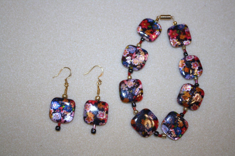 Floral Fantasy Bracelet & Earrings - Item #BES17