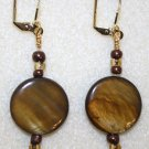 Caramel Swirl Earrings - Item #E18