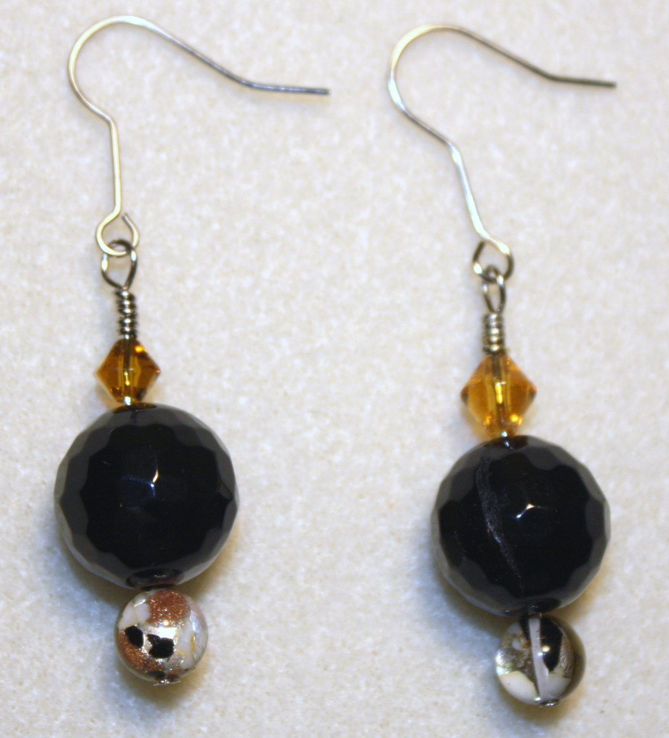 Black Agate Earrings - Item #E25