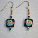 Decoupage Owl Earrings - Item #E28