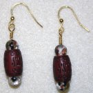 Tooled Focal Bead Earrings - Item #E35