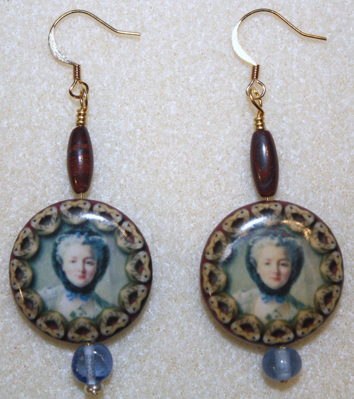 Charming Portrait Earrings - Item #E48