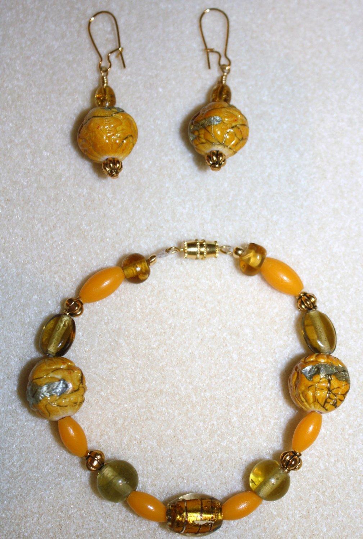 Sunny Day Bracelet & Earrings - Item #BES24