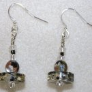 Lucite N' Millefiori Earrings - Item #E50