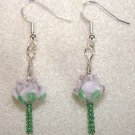 Lavender Rose Earrings - Item #E53