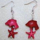Dolphin N' Starfish Earrings - Item #E91