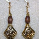 "Gold N' Brown ""Bohemian"" Earrings - Item #E102"