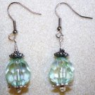 Soft Teal Crystal Earrings - Item #E108