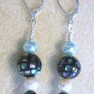 Abalone Shell Earrings - Item #E127