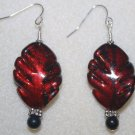 Crimson Leaf Earrings - Item #E152