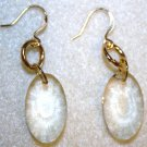 Gold Faceted Charm Earrings - Item #E159