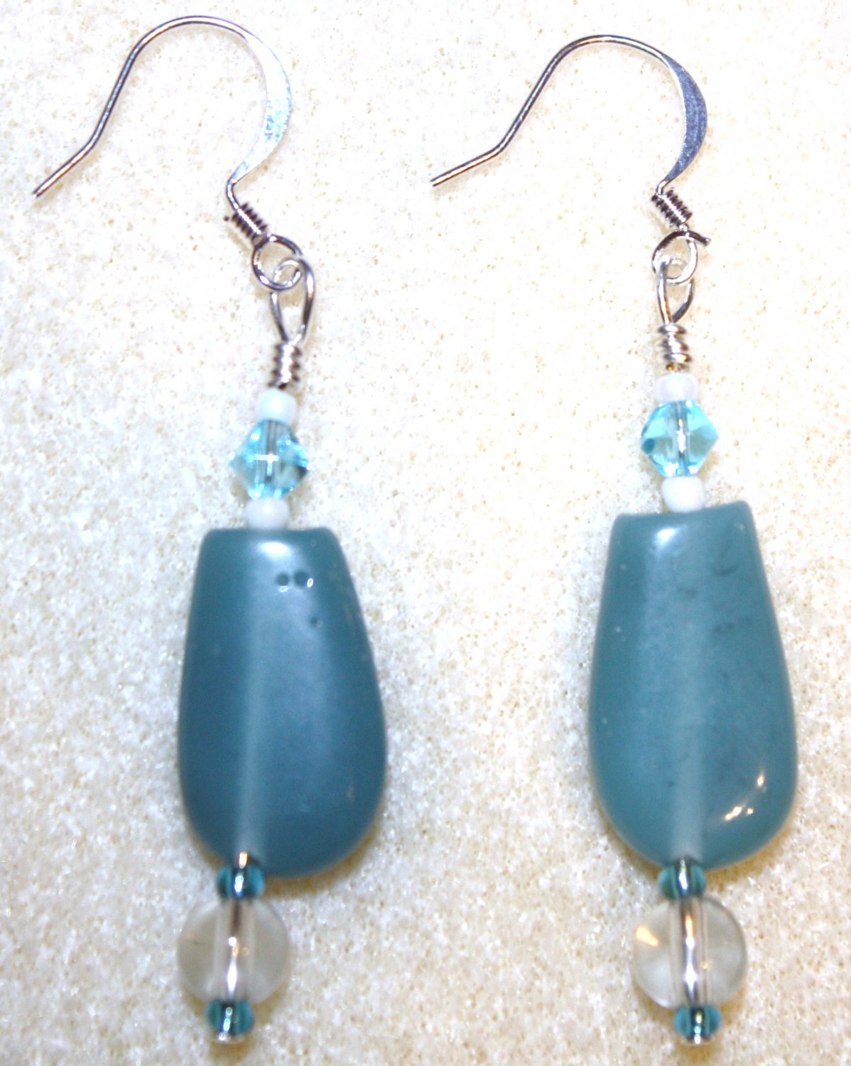 Aqua Focal Earrings - Item #E160