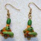 Green Snake Earrings - Item #E200