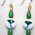 Ginkgo N' Crystal Earrings - Item #E227