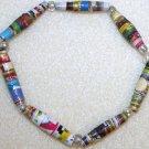 Rainbow Paper Bead Bracelet - Item #B53