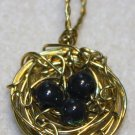 Black Egg Nest Pendant - Item #PEN4
