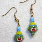 Green Sock Monkey Earrings - Item #E285