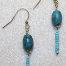 Genuine Turquoise Drop Earrings - Item #290