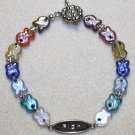 Multicolored Glass Fish Bracelet - Item #B65