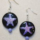 Purple N' Pink Starfish Earrings - Item #E345