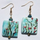 Blue Sky Floral Earrings - Item #E366