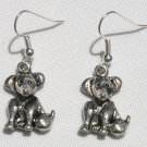 Pewter Puppy Earrings - Item #E359