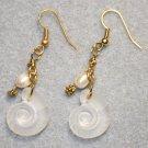 Shell N' Pearl Earrings - Item #E372