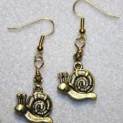 Gold-tone Snail Earrings - Item #E378