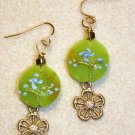 Fresh Floral N' Gold Earrings - Item #E390