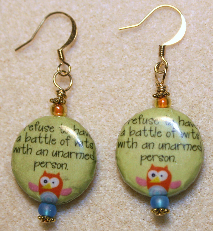 """""""Battle of Wits"""" Earrings - Item #E396"""