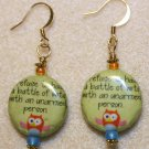 """Battle of Wits"" Earrings - Item #E396"