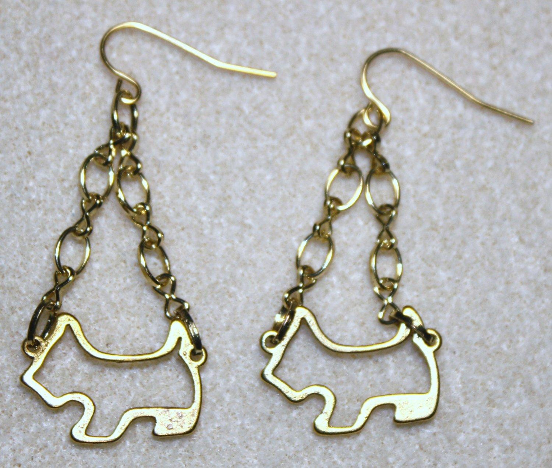 Yorkie Outline Earrings - Item #E403