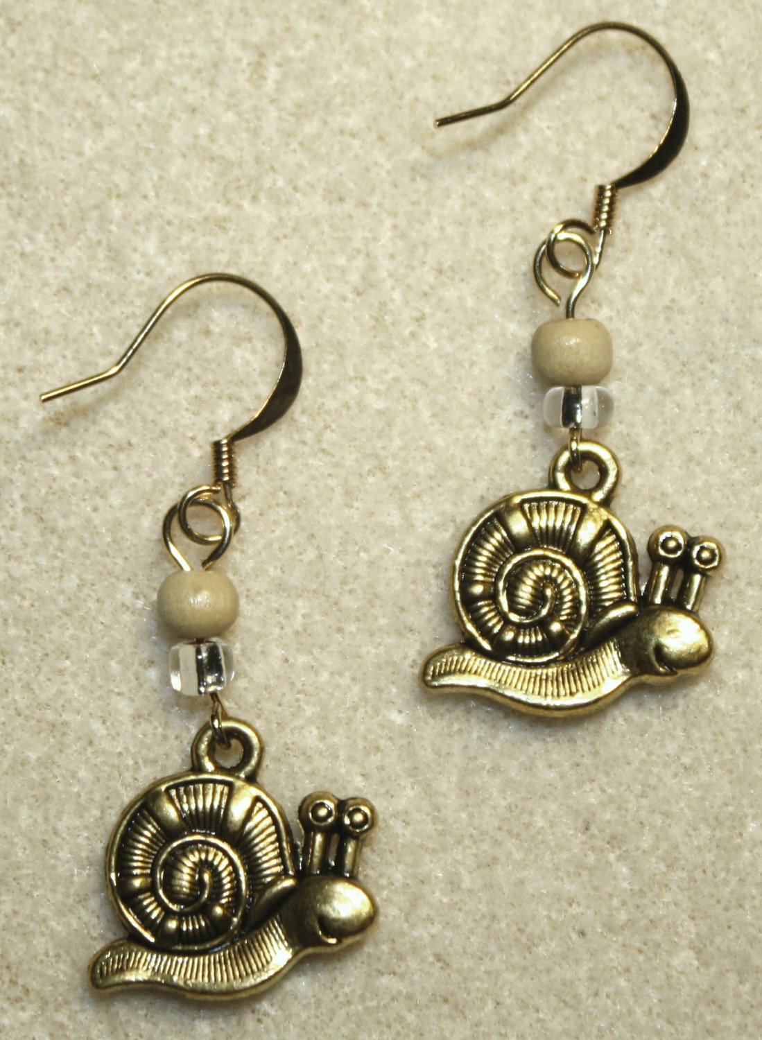 Golden Snail Earrings - Item #E407