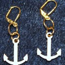 Balsa Ship Anchor Earrings - Item #E428