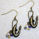 Accented Shrimp Earrings, Design 4 - Item #E436
