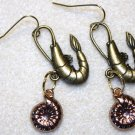 Accented Shrimp Earrings, Design 10 - Item #E442