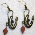 Accented Shrimp Earrings, Design 18 - Item #E450