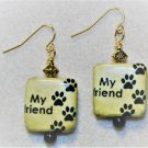 My Pet Is My Friend Earrings - Item #E468