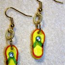 Sunny Flip Flop Earrings - Item #E483